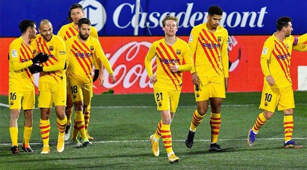 Barcelona a câștigat la Huesca grație unui gol marcat de De Jong (3 ianuarie 2021)