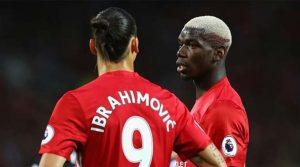 Zlatan Ibrahimovic, Paul Pogba, Manchester United