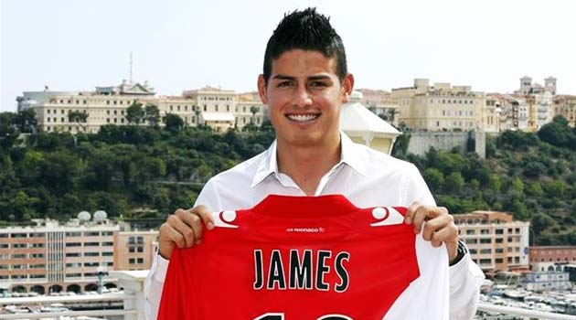 James Rodriguez, la prezentarea la AS Monaco
