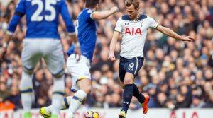 Harry Kane a marcat două goluri în meciul Tottenham - Everton 3-2 din campionatul trecut