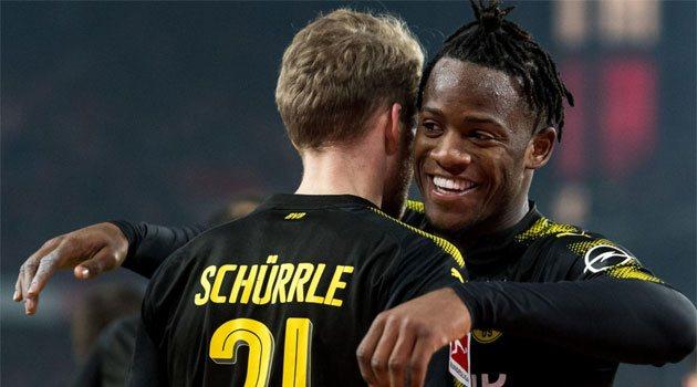 Michy Batshuayi a reușit o dublă în meciul Koln - Dortmund 2-3