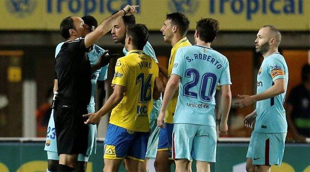Polemică arbitrală în Las Palmas - Barcelona 1-1