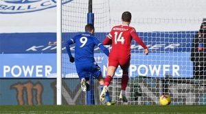 Jamie Vardy, marcator în meciul Leicester - Liverpool 3-1 (13 februarie 2021)