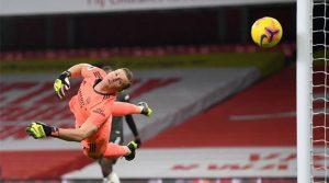 Bernd Leno, paradă în meciul Arsenal - Manchester United 0-0 (30 ianuarie 2021)