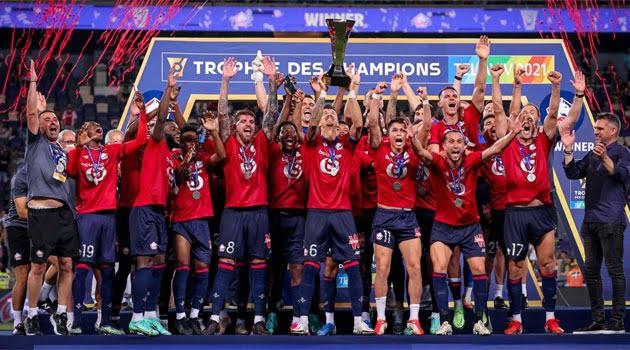Lille, câștigătoarea Supercupei Franței 2021 (1-0 cu PSG)