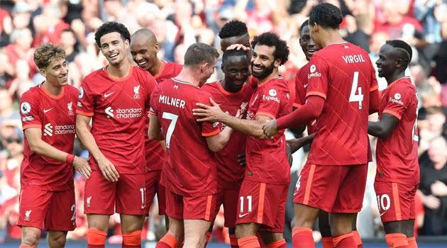 Liverpool, în meciul cu Crystal Palace 3-0 din septembrie 2021