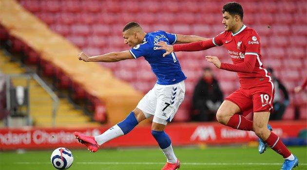 Richarlison, marcator în meciul Liverpool - Everton 0-2