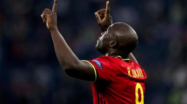 Romelu Lukaku a reușit o dublă în meciul Belgia - Rusia de la EURO 2020