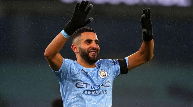 Riyad Mahrez a marcat un hattrick pentru Manchester City contra lui Burnley (noiembrie 2020)