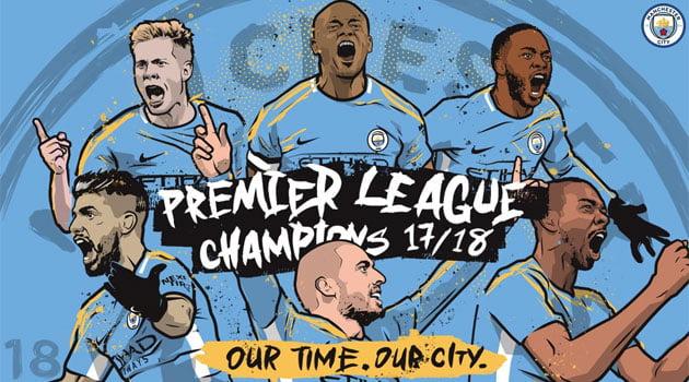 Manchester City, campioana Premier League în sezonul 2017-2018