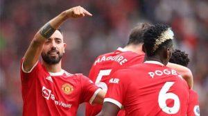 Bruno Fernandes și Paul Pogba, de neoprit în meciul Manchester United - Leeds 5-1
