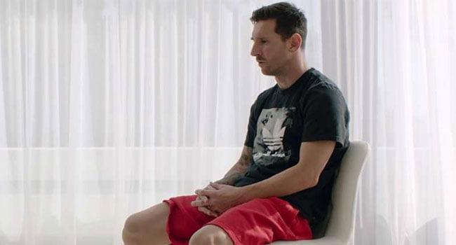 Messi, în timpul interviului pentru goal.com