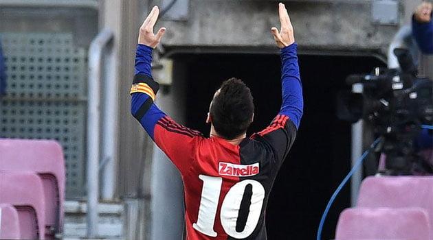 Omagiu adus de Messi lui Maradona după golul marcat în meciul Barcelona - Osasuna 4-0