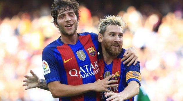 Messi, Sergi Roberto (FC Barcelona)