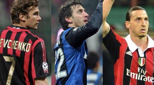 Andriy Shevchenko, Diego Milito, Zlatan Ibrahimovic