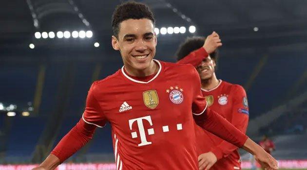 Jamal Musiala a devenit cel mai tânăr jucător englez care marchează în Champions League (Lazio - Bayern 1-4)
