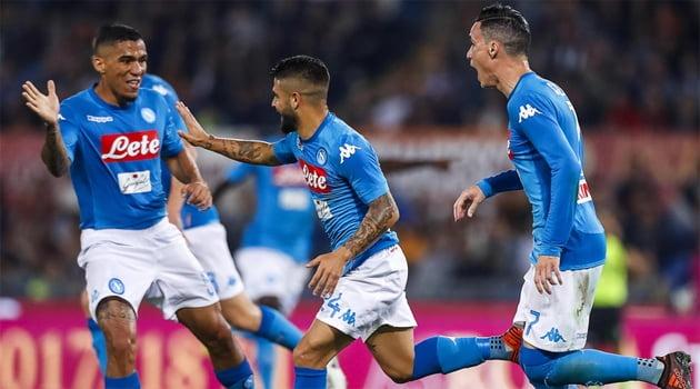 Lorenzo Insigne a marcat singurul gol al meciului Roma - Napoli 0-1