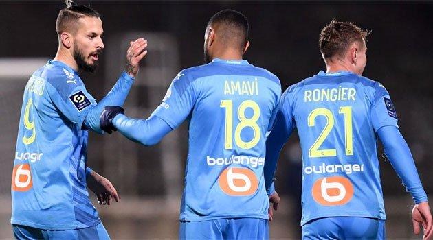 Olympique Marseille în victoria de la Nimes, decembrie 2020