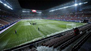 Terenul înghețat de la Pamplona înainte de Osasuna - Real Madrid 0-0 (9 ianuarie 2021)