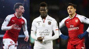 Mesut Ozil, Mario Balotelli, Alexis Sanchez