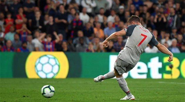 Un penalty transformat de Milner a deblocat tabela în meciul Crystal Palace - Liverpool 0-2 din 20 august 2018