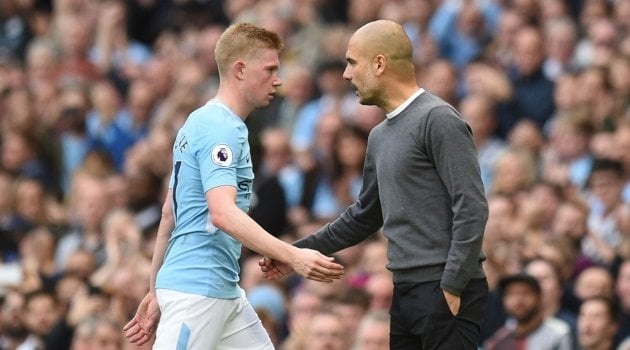 Kevin de Bruyne, Pep Guardiola (Manchester City)