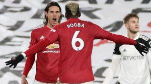 Pogba și Cavani, marcatorii lui ManUnited în meciul din deplasare cu Fulham (20 ianuarie 2021)