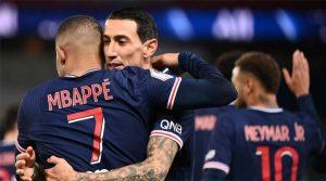 Mbappe, di Maria, Neymar în meciul PSG - Montpellier 4-0 (22 ianuarie 2021)