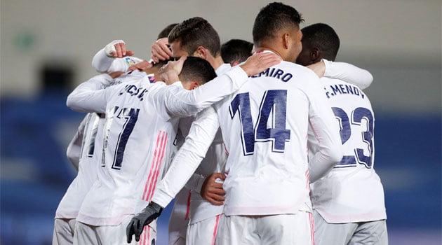 Real Madrid, în meciul cu Celta Vigo (scor 2-0, 2 ianuarie 2021)