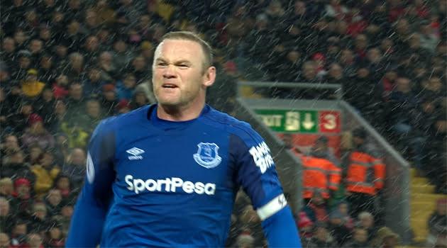 Wayne Rooney a marcat în meciul Liverpool - Everton 1-1