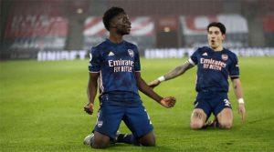 Saka, omul numărul unu pentru Arsenal în victoria din deplasare cu Southampton (26 ianuarie 2021)