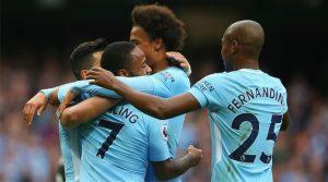 Raheem Sterling, Leroy Sane, Fernandinho (Manchester City)