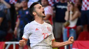 Pablo Sarabia a marcat primul gol al Spaniei în meciul cu Croația, scor 5-3, în optimile EURO 2020