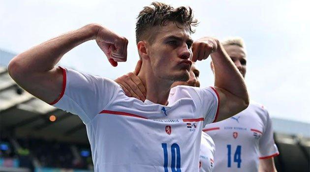 Patrik Schick a marcat în meciul Croația - Cehia al treilea său gol la EURO 2020