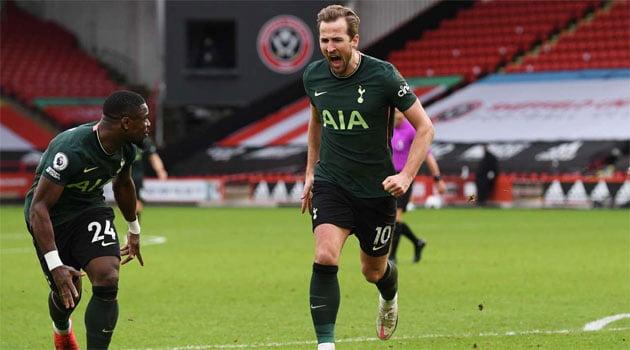 Harry Kane, marcator în meciul Sheffield United - Tottenham 1-3