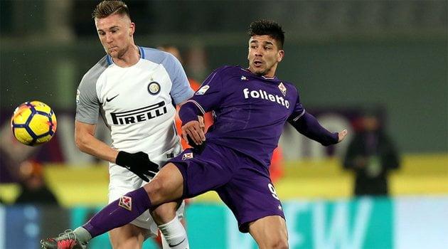 Giovanni Simeone a marcat în meciul Fiorentina - Inter 1-1