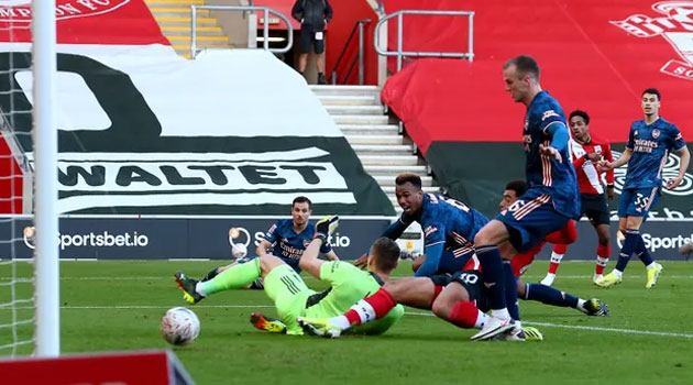 Meciul Southampton - Arsenal din FA Cup a fost decis de un autogol al lui Gabriel