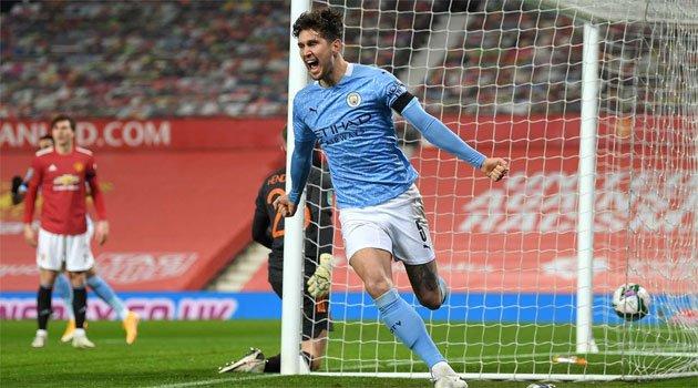 John Stones, marcator în meciul Manchester United - Manchester City 0-2, semifinala Carabao Cup 2020-2021
