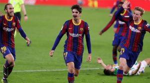 Trincao, marcatorul golului decisiv în Betis - Barcelona 2-3 (7 februarie 2021)