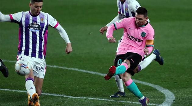Messi, marcator în meciul Valladolid - Barcelona 0-3