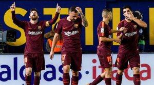 Villarreal - Barcelona 0-2, 10 decembrie 2017