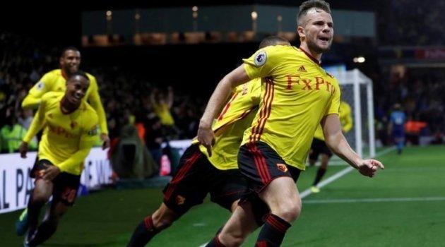 Tom Cleverley a marcat golul decisiv al meciului Watford - Arsenal 2-1