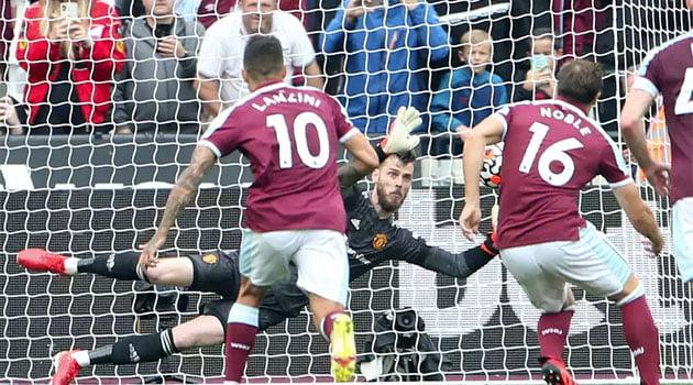 David de Gea a apărat un penalty în prelungirile meciului West Ham - Manchester United 1-2