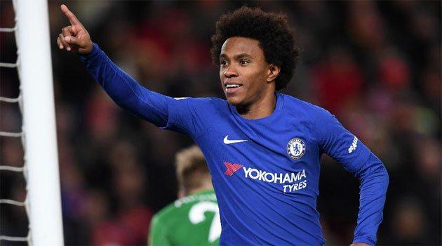 Willian a marcat golul egalizator în Liverpool - Chelsea 1-1