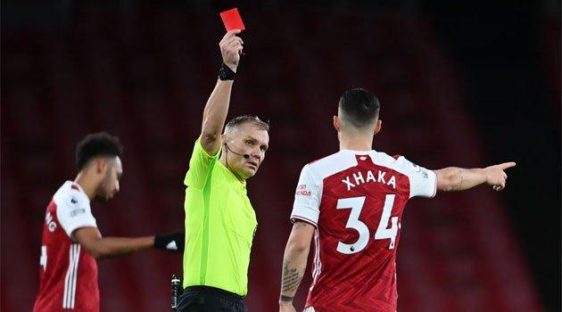 Xhaka, eliminat în meciul Arsenal - Burnley 0-1