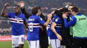 Duvan Zapata a marcat singurul gol al meciului AS Roma - Sampdoria 0-1